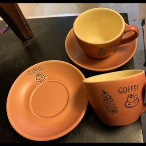 """""""Coffee"""" Espresso Cup and Saucer set"""
